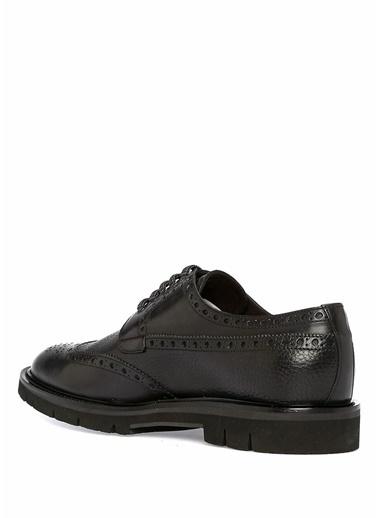 Barrett Deri Oxford Ayakkabı Siyah